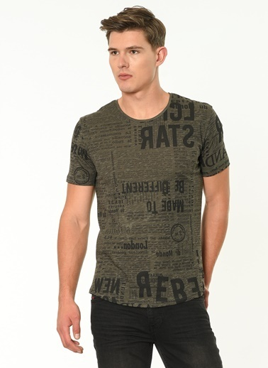 Lee Cooper Desenli T-Shirt Antrasit